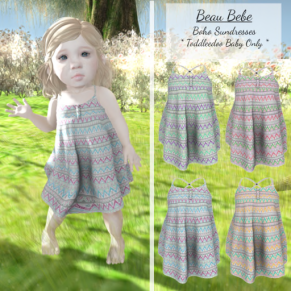 Beau Bebe - BOHO Sundress - Shop Hop May 2017